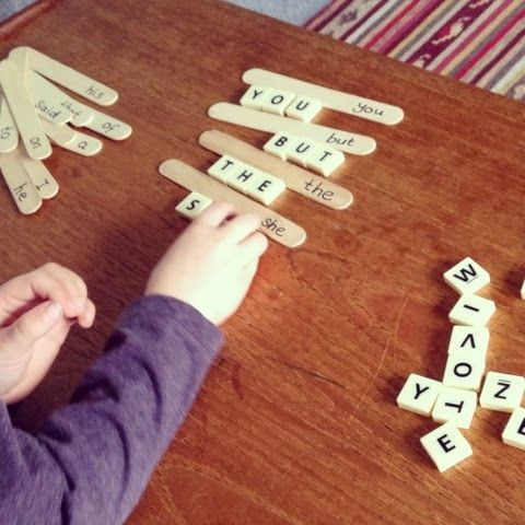 dolch learn Using activities and popsicle sight . sight Popsicle word sticks  scrabble with tiles words to sticks