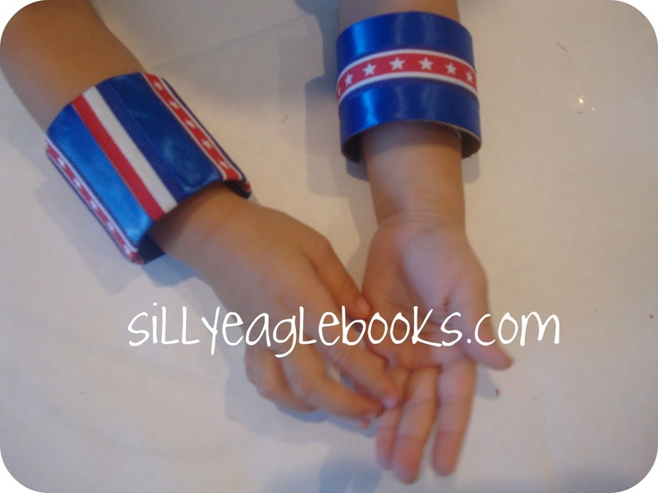 Silly Eagle Books: Kids craft: Independence Day Cuffs: Patriots Crafts, Crafts For Kids, Silly Eagles, Crafts Ideas, July Crafts, Kids Crafts, Eagles Book, 4Th Of July, Independence Day