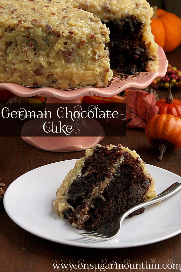 German Chocolate Cake From Scratch With Cocoa