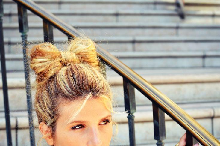 DIY hair bow bun tutorial   Mr. Kate