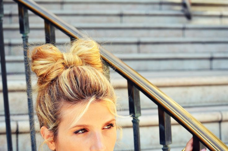 DIY hair bow bun tutorial | Mr. Kate