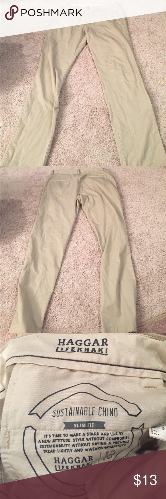 Men's Khaki Pants Great condition. Length 34 Haggar Pants Chinos & Khakis