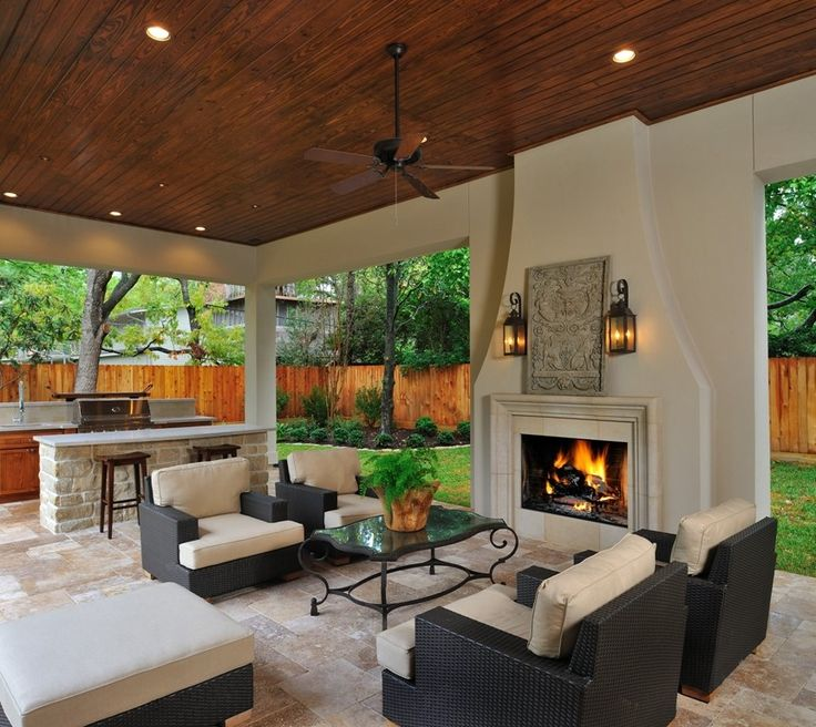 17 best images about fire places idea 39 s on pinterest for Modern outdoor kitchen