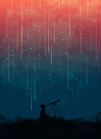 Meteor Rain art print by Budi Satria Kwan for society6 $19.97