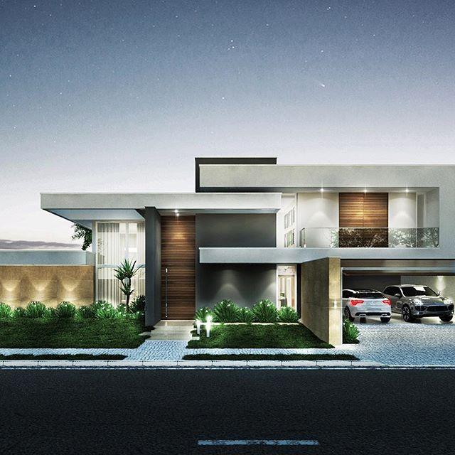 Residencia Wco A Proposta Neste Projeto Foi Criar Um Harmonioso Jogo De Elementos Horizontais E Verticais Minimalist House Design Facade House House Design