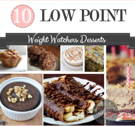 10 delicious low point Weight Watchers Desserts