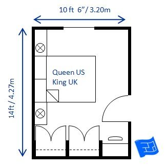 Best 17 Master bedroom size and layout (no ensuite) images on ...