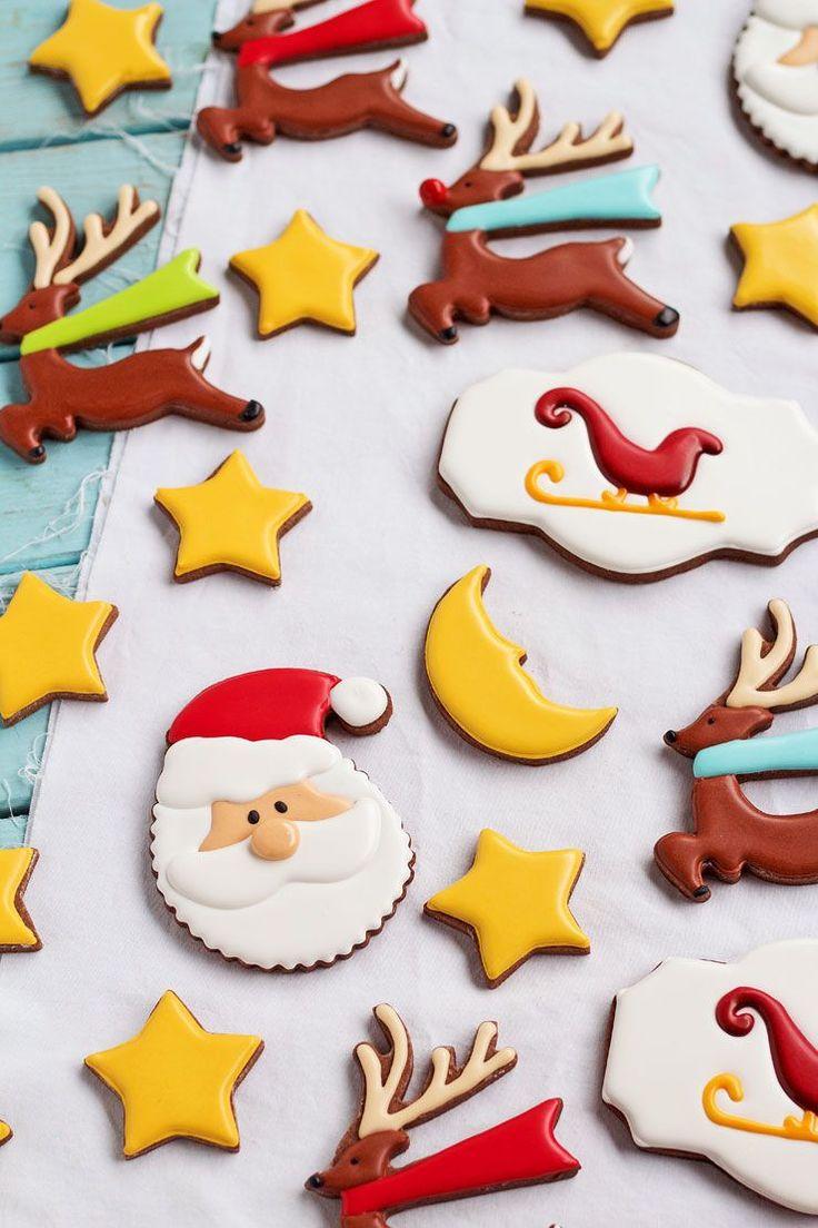 How to make a father christmas cake decoration - Christmas Cookies For Santa