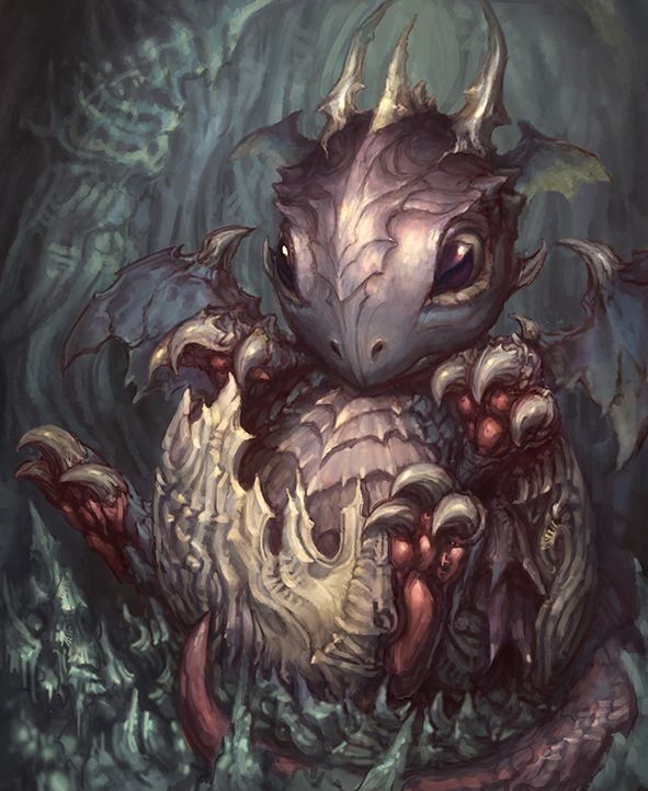 baby dragon from hell by *artkingman on deviantART God I love dragons.--- IT'S SO CUTE