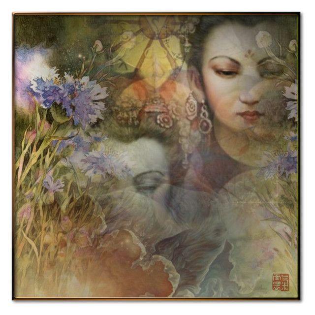 """""""Shakti • Il risveglio della Primavera"""" by fairy-world ❤ liked on Polyvore featuring art"""