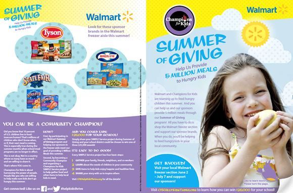 #SummerofGiving #walmart #championsforkids  Donating to our local food pantry! Enter to win $25000 reward for your local school