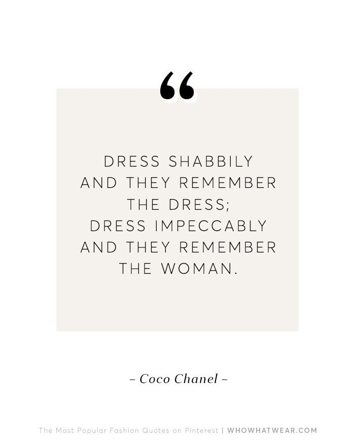 The 10 Most Popular Fashion Quotes on Pinterest via @WhoWhatWear
