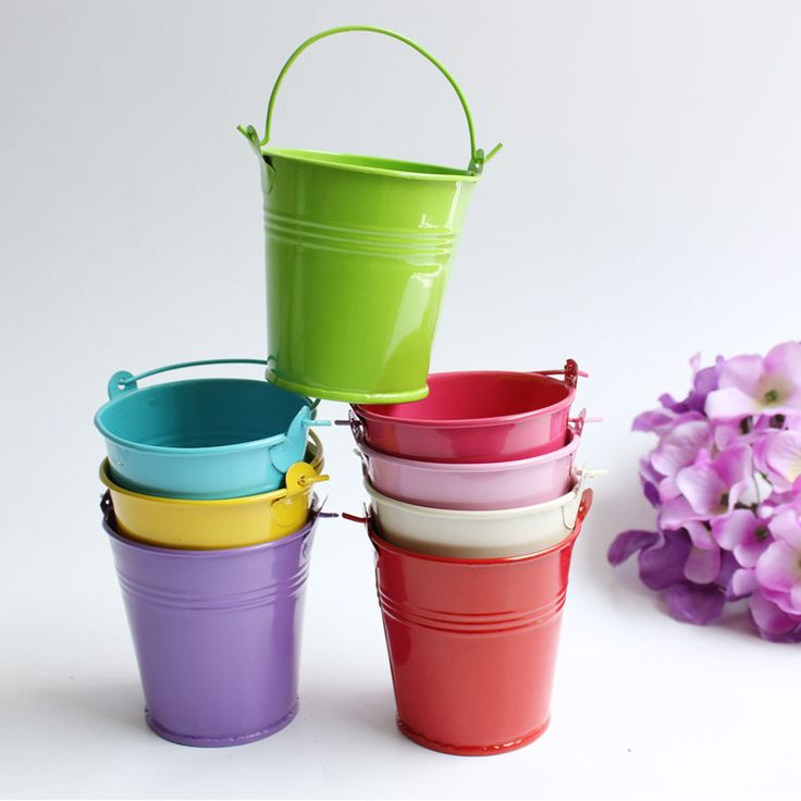 14 best images about metal buckets tin pails and pot for Small pail buckets