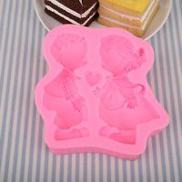 A Pair Kids Cake Cookies Bread Decorating Baking Christmas Kitchen Mould Tool...