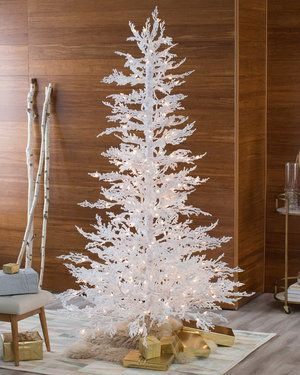 Flocked White Twig Tree Pre-Lit Full Christmas Tree by Sterling Tree Company