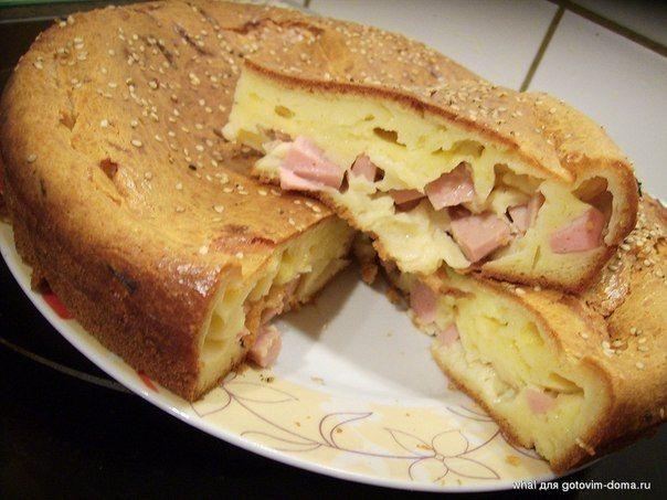 соленая булочка с колбасой рецепты на кефире