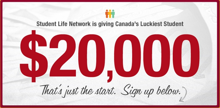 Student Life Network is giving away the best prize in Canadian student history, it starts with $20,000 and 5 Dell Ultrabooks. If your friends win, you win too. Sign up today.