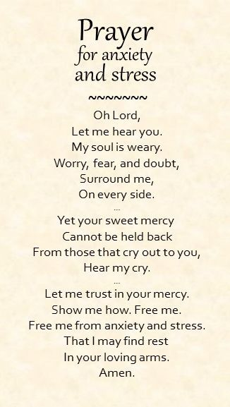Prayer for anxiety and stress