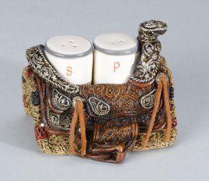 Western Saddle Salt & Pepper Shakers Set