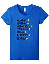 Emoji T-Shirt Love Your Emoticon Shirt 7 Days A Week! * Continue to the product at the image link.