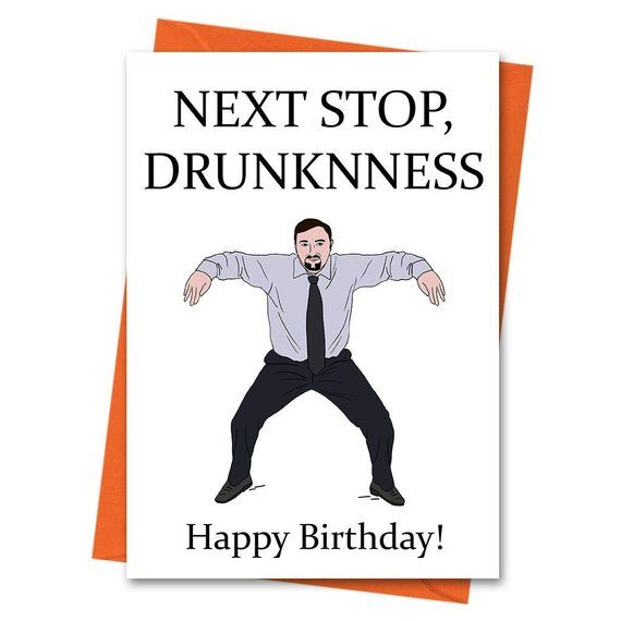 Funny Birthday Card The Office Uk David Brent Dance Card