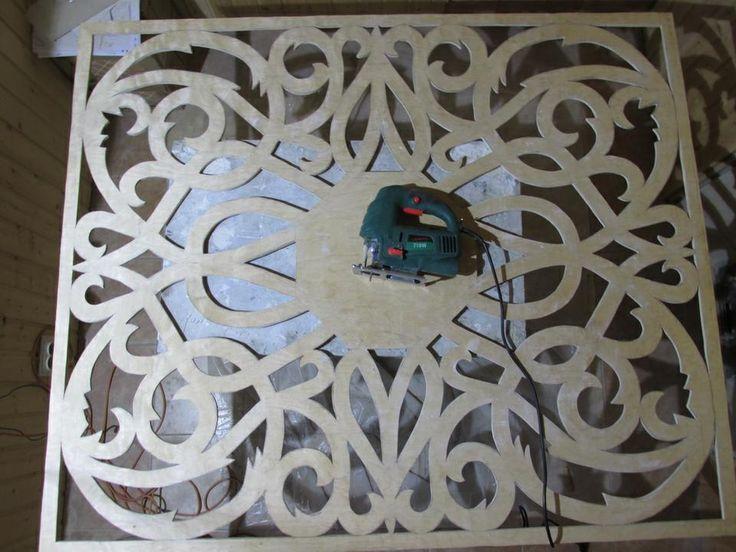 Как сделать декоративную панель из фанеры на потолок. Обсуждение на LiveInternet…