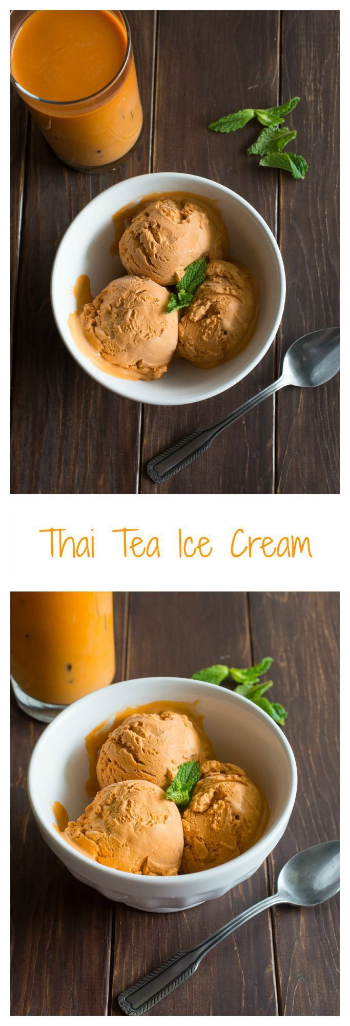 Silky, creamy and rich Thai Tea Ice Cream. The perfect dessert after a spicy Thai meal...or ANY meal!