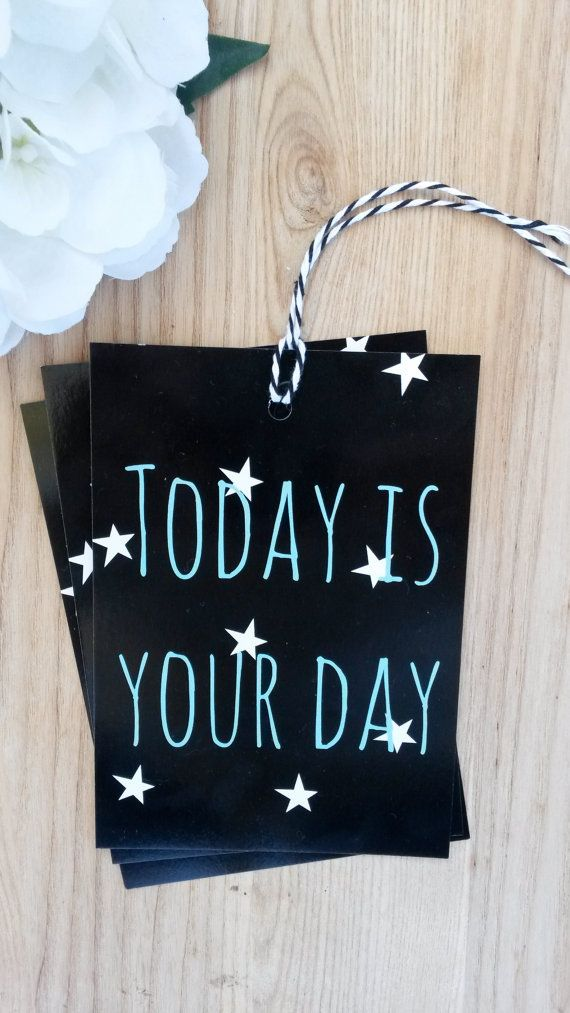 Jumbo GIFT TAG  Today is Your Day 3 pack  by LuLaPaperGoods