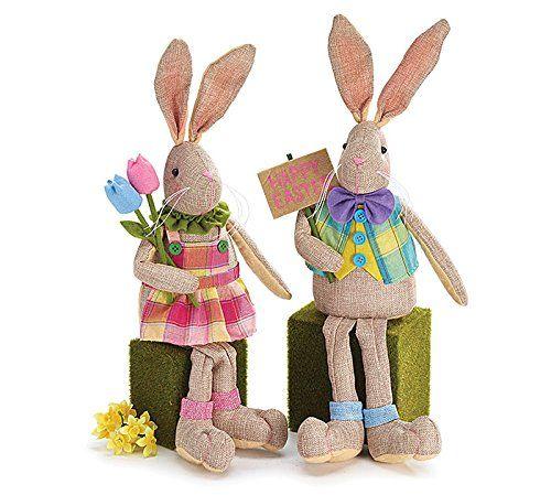 """Set of 2 Easter Bunny Rabbit 20""""H Linen Shelf Sitters Gir... https://www.amazon.com/dp/B01CDJ7G66/ref=cm_sw_r_pi_dp_x_hVGVybK9BGGJG"""
