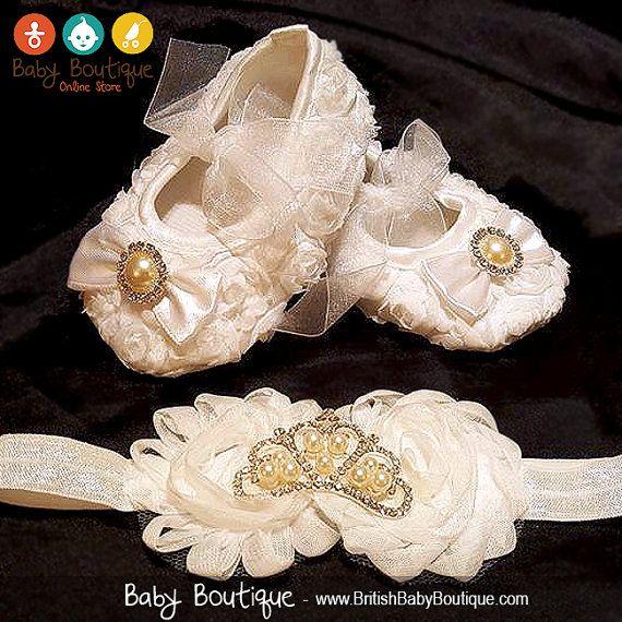 IMPRESIONANTES zapatos de cuna de bebé niña por BritishBabyBoutique