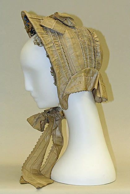 Bonnet Date: ca. 1863 Culture: American or European Medium: silk Dimensions: [no dimensions available] Credit Line: Gift of Lee Simonson, 1938 Accession Number: C.I.38.23.173