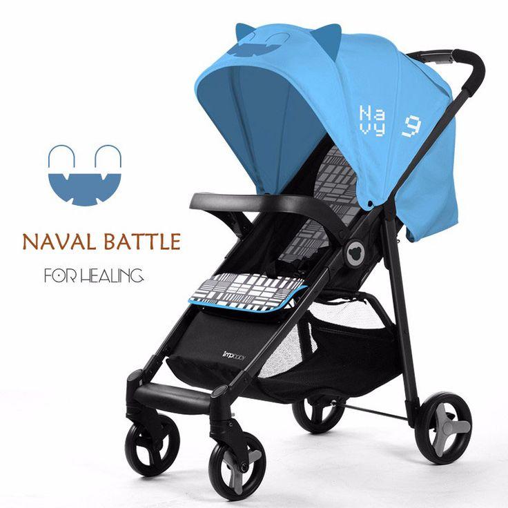 Baby Stroller Pram Strollers Ultra Portable Baby Big Umbrella Baby Car Foldable Wheel-chair Sit Flat Big Space Yoya Stroller