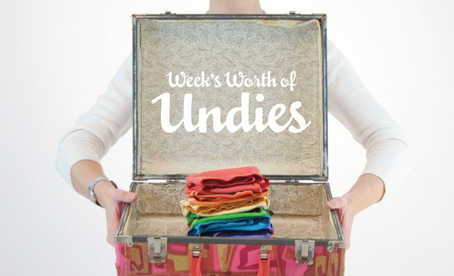 Go on vacation with only undies?  She shopped thrift stores when she got there and then took it all back at the end of the week.