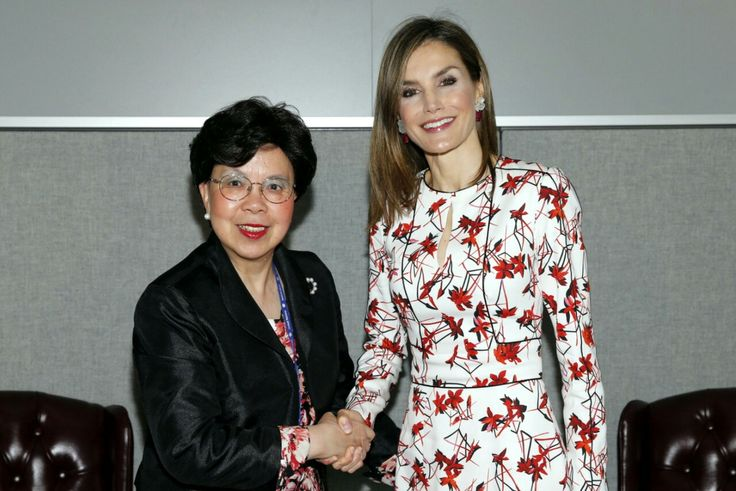 2  Queen Letizia and the Director-General of WHO, Margaret Chan at UN Headquarters | 19 September, 2016