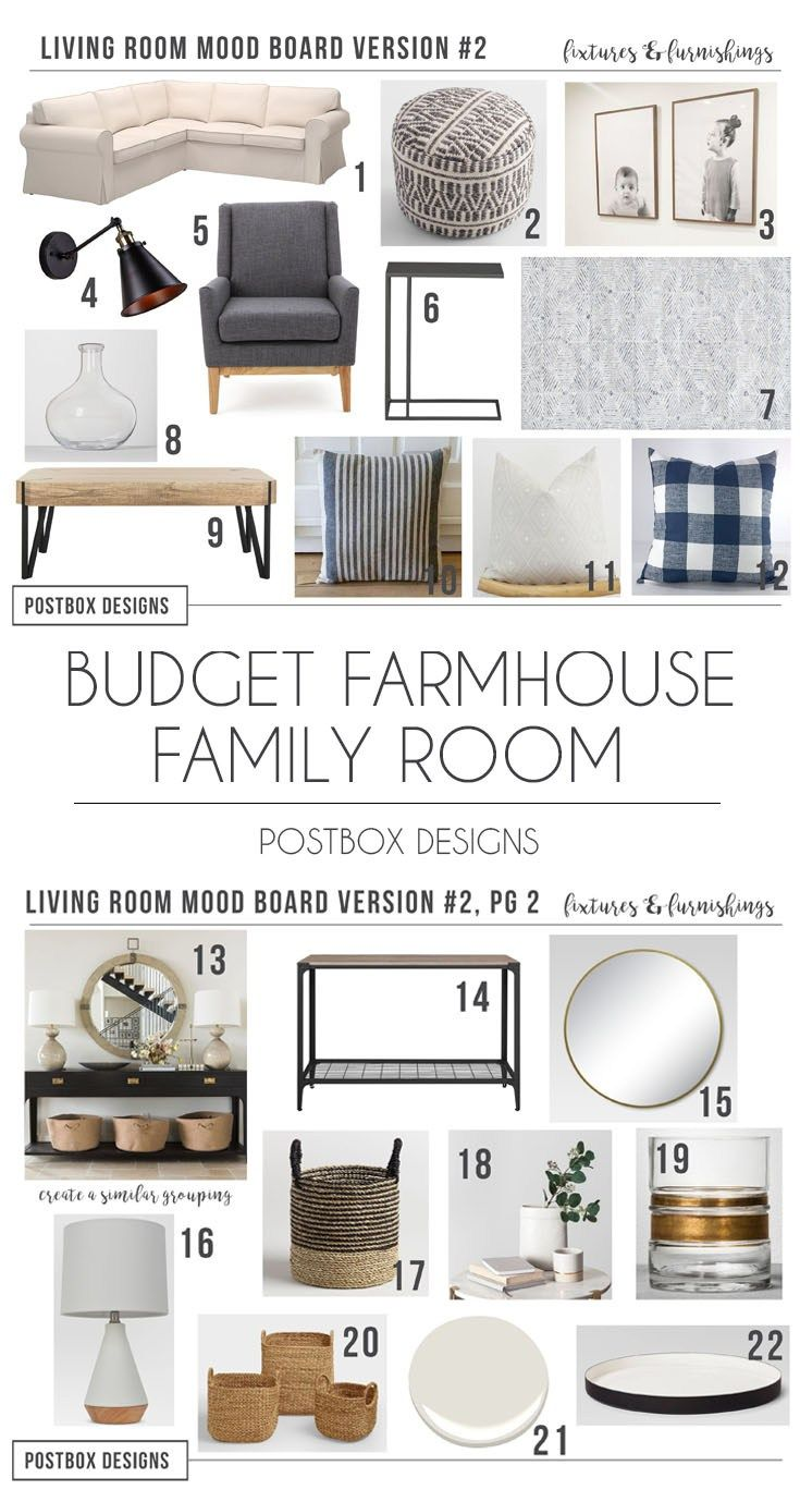 Budget Family Friendly Modern Farmhouse Living Room Part Ii