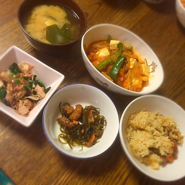 昨日の残り物のオカズと一緒に - 16件のもぐもぐ - 豚キムチ豆腐春雨 by mogumogu222