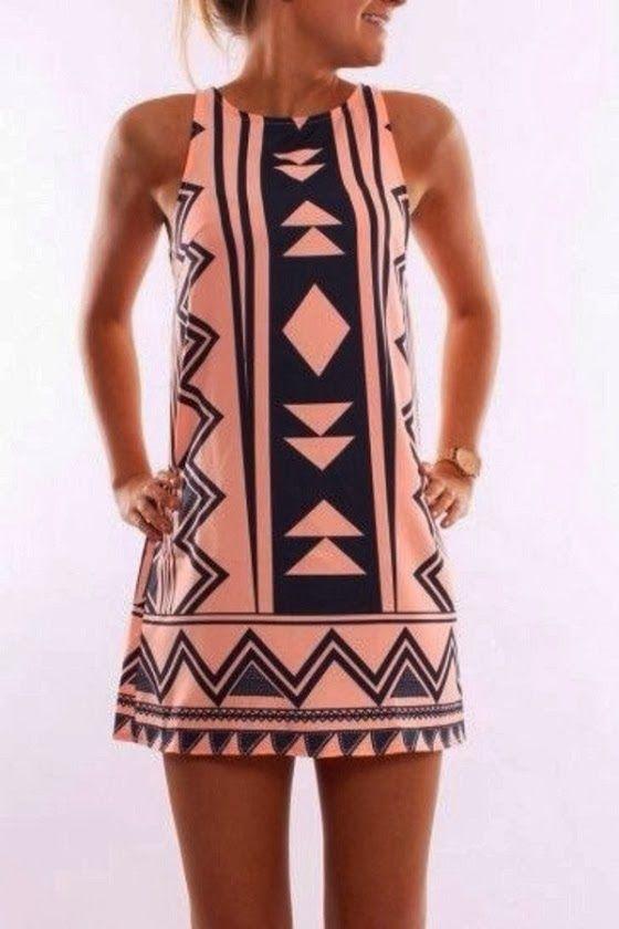 Sleeveless mini dress for summer