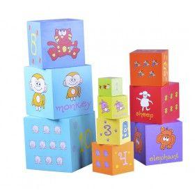 juguetes de madera piezas juguetes de apilamiento juguetes de aprendizaje nue