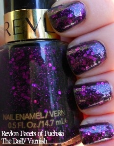 Revlon Facets of Fuschia - gorgeous deep glittery purple