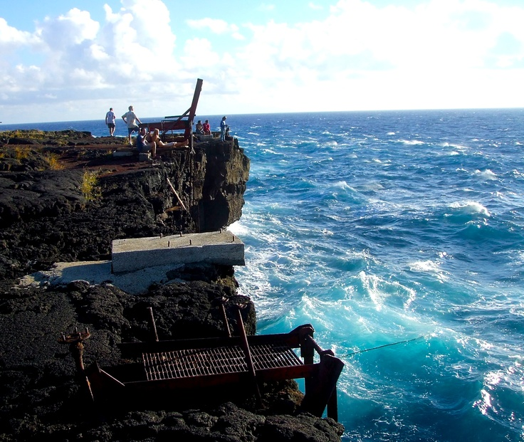 Ka Lae (on #Hawaii, the #BigIsland) is the southern most point in the U.S. Nothing but the blue pacific between here and Antarctica! #gohawaii #travel