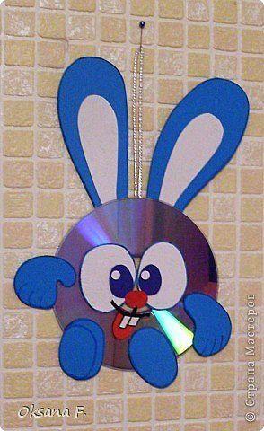 Reutilizar os CDs para fazer coelhinhos da Páscoa.