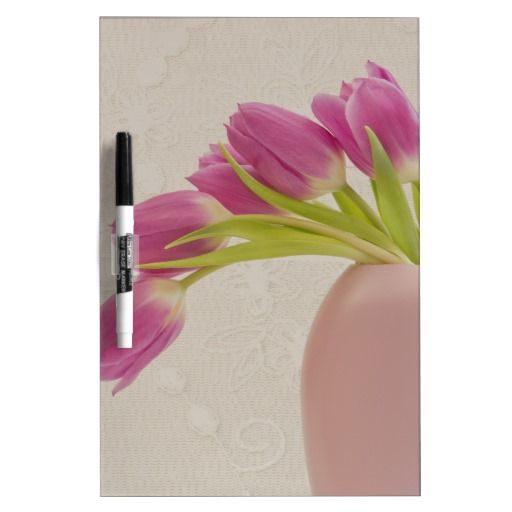 Pink Tulips And Lace Dry-Erase Whiteboard