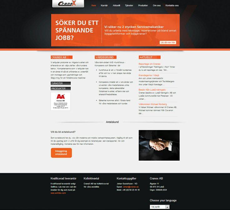 Design for a business in Luleå, Sweden. #webdesign