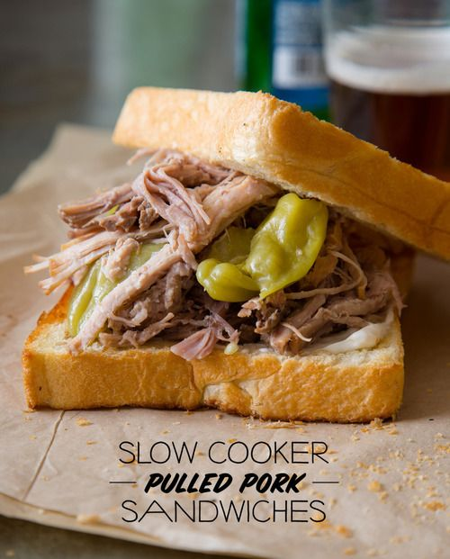 http://ehealthyrecipes.com/articles/healthy-burger-recipes/ | Slow cooker pickled pulled pork sandwiches - Nom-Food! | via Tumblr pulled pork -  slow cookies