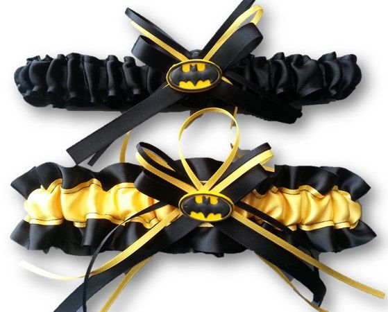 Hey, I found this really awesome Etsy listing at https://www.etsy.com/listing/152057372/batman-themed-wedding-garter-set