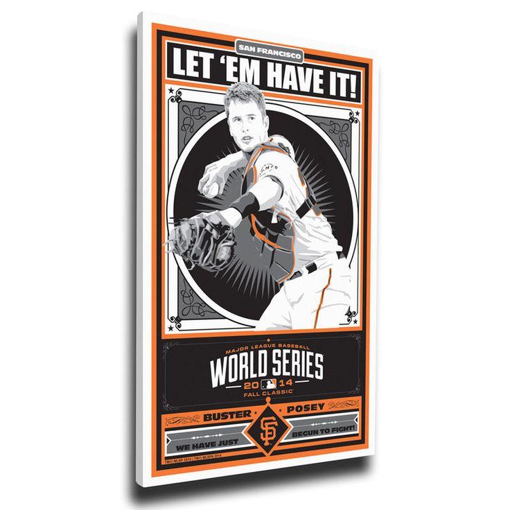 "Buster Posey San Francisco Giants 20"" x 26"" 2014 World Series Champions Player Propaganda Canvas Print"