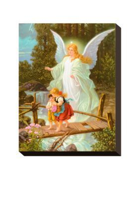 Art.com  Heilige Schutzengel Stretched Canvas Print  Online Only
