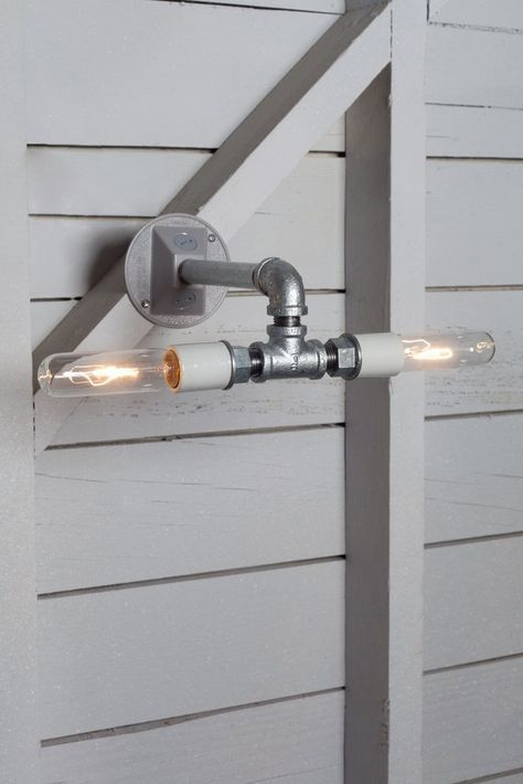 Industrial Wall Sconce - Double Bare Bulb Pipe Lamp - Industrial Light Electric - 1