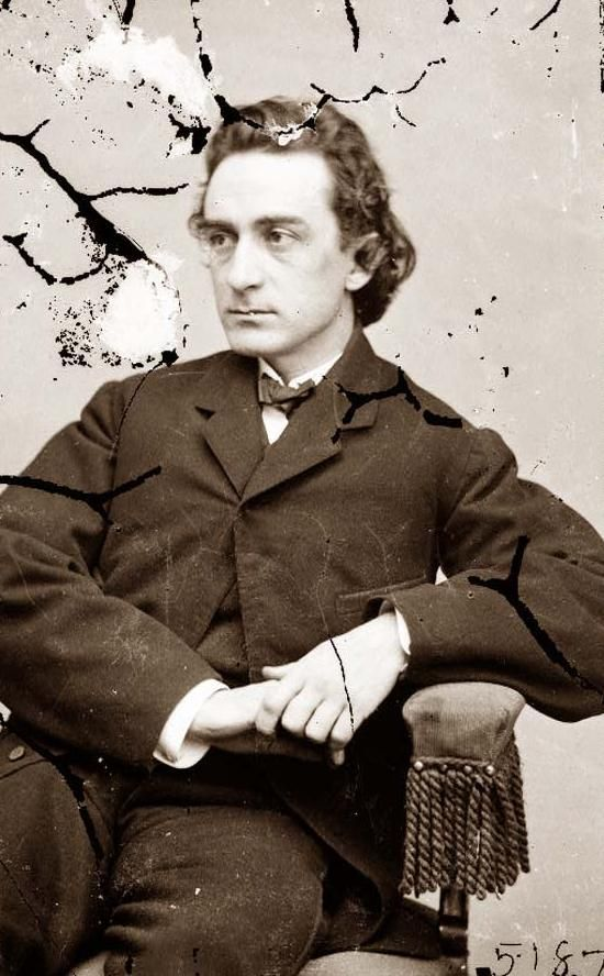Edwin Booth, brother of John Wilkes Booth. He saved the life of Robert Lincoln in 1864/65 when he pulled him to safety from a train in New Jersey. He did not learn the identity of the man he saved until several months later, and this was said to have given him some comfort in the aftermath of Lincoln's assassination.