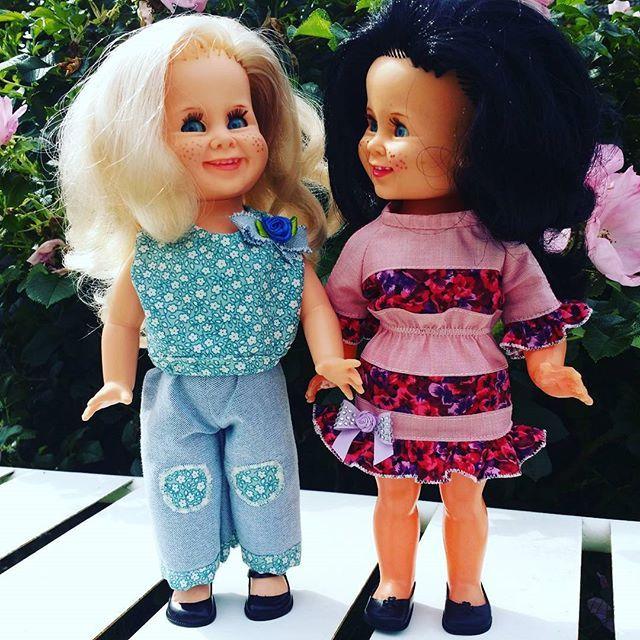 Sommer 🌻 #tjorven #vintage #rattidoll #nostalgi #dukker #dolls #homemade #hjemmesydd #tjorvenclothing